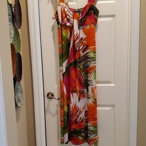 Orange/Pink Maxi Dress. X large.